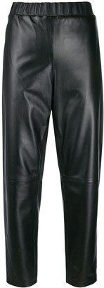 Calvin Klein Cropped Slim-Fit Trousers