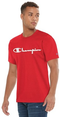 Champion Heritage Embroidered Short Sleeve T-Shirt - Team Red Scarlet