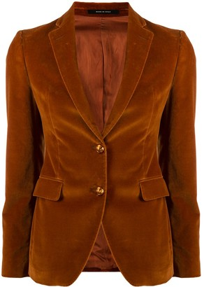 Tagliatore Textured Embossed Button Blazer