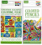 Crayola Creative Escapes Travel Folio & Adult Coloring Pencil Set