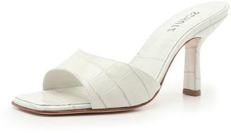 Schutz Posseni Mock-Croc Slide Mule Sandals
