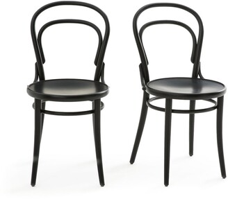 Am.pm. Neda Beech Chairs, Set of 2