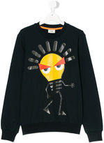 Fendi Teen lightbulb print sweatshirt - kids - Cotton/Spandex/Elastane - 14 yrs