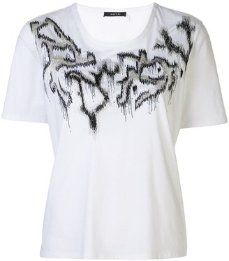 Natori supima cotton embroidered T-shirt
