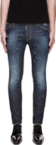 DSquared Dsquared2 Blue Paint-Splattered Cool Guy Jeans