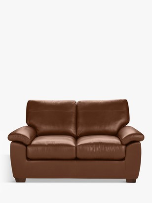John Lewis & Partners Camden Small 2 Seater Leather Sofa, Dark Leg