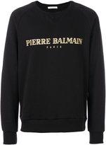 Pierre Balmain logo print T-shirt - men - Cotton/Polyester - 46