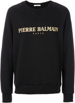 Pierre Balmain logo print T-shirt - men - Cotton/Polyester - 48
