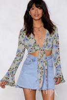 Nasty Gal Branch Out Tie Top
