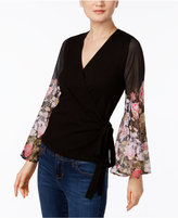 INC International Concepts Faux-Wrap Bell-Sleeve Sweater, Only at Macy's