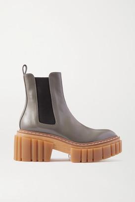 Stella McCartney Emilie Vegetarian Leather Platform Chelsea Boots - Gray