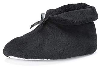 Muk Luks Women's Micro Chenille Boot with Satin Bow Slipper