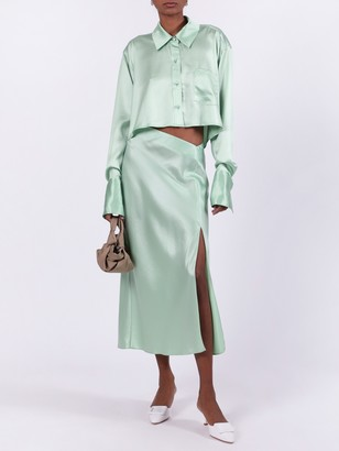 Alexander Wang High-waisted Midi Skirt Green
