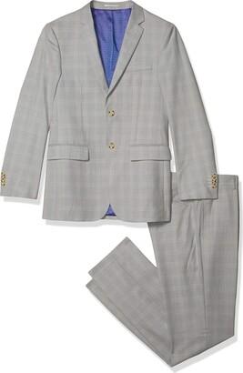 Kitonet Men's 2-Piece Plaid Slim Fit Suit
