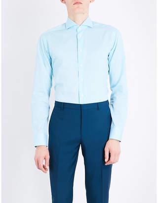 Eton Polka-dot cotton shirt