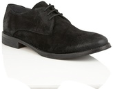 Frank Wright Black Suede 'stringer' Lace Up Derby Shoes