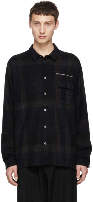 Stephan Schneider Blue and Brown Check Shirt