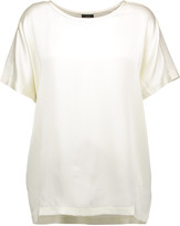 Joseph Silk-satin and cotton-jersey T-shirt