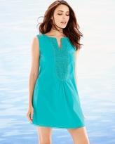 Soma Intimates Crochet Trim Sleeveless Cotton Cover Up Atlantis Jade