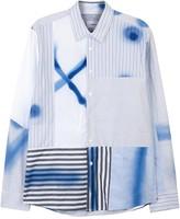 Soulland Calsen Patchwork-print Cotton Shirt