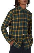 Topman Trim Fit Check Shirt