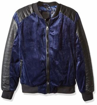 Urban Republic Mens Woven Velvet Jacket