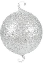 Glitter Glass Two-Hook Ball Ornament