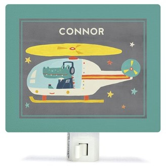 Oopsy Daisy Fine Art For Kids Animal Drivers Helicopter by Irene Chan Night Light Customize: Yes