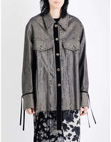 Song For The Mute Graphic-print distressed denim jacket