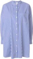 Aspesi mandarin collar striped shirt