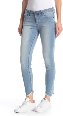 Articles of Society Suzy Cropped Fray Hem Skinny Jeans