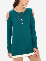 The Limited Layered Cold Shoulder Sweater