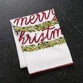 Crate & Barrel Christmas Tree Dish Towel