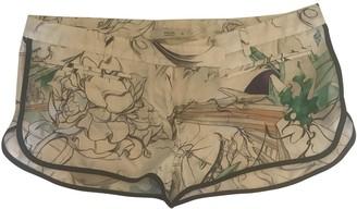 Prada White Silk Shorts