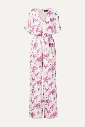 Rachel Zoe Gwen Ruffled Floral-print Chiffon Jumpsuit - White