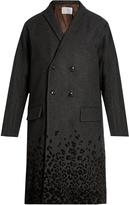 Kolor Flocked leopard-print wool-blend coat