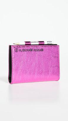 MM6 MAISON MARGIELA Small Metallic Pocket Book with Pencil