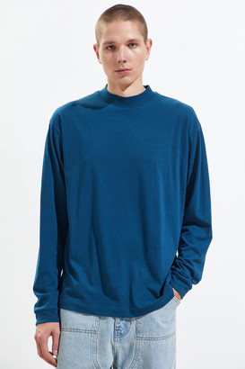 Urban Outfitters Recycled Mock Neck Long Sleeve Tee