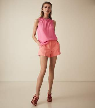 Reiss Lyla - Tailored Shorts in Coral