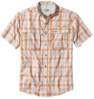 L.L. Bean Men's Tropicwear Shirt, Plaid Short-Sleeve