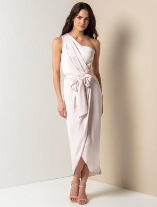 Forever New Chloe One-Shoulder Midi Dress - Candy Blush - 10
