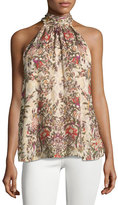 Haute Hippie The Morrison Floral Tank Top, Multi Pattern