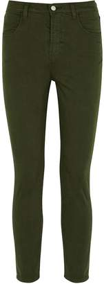 J Brand Alana Army Green Brushed Skinny Jeans