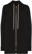Rick Owens zipped oversized hoodie