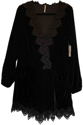 Free People Black Velvet Dresses