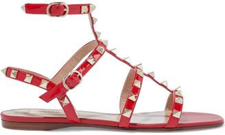 Valentino Rockstud Patent-leather Sandals