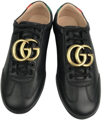 Gucci \N Black Leather Trainers
