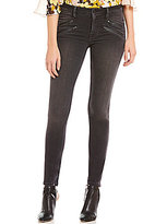 GUESS Mid-Rise Biker Stretch Skinny Jeans