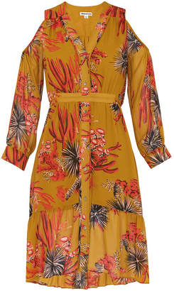 Whistles Cactus Cold Shoulder Dress
