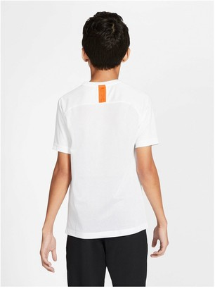 Nike Youth CR7 Short Sleeved Dry T-Shirt - White